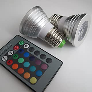 360deal Magic Lighting 2 Pack LED Light Bulb & Remote w/ 16 Different Colors And 5 Modes