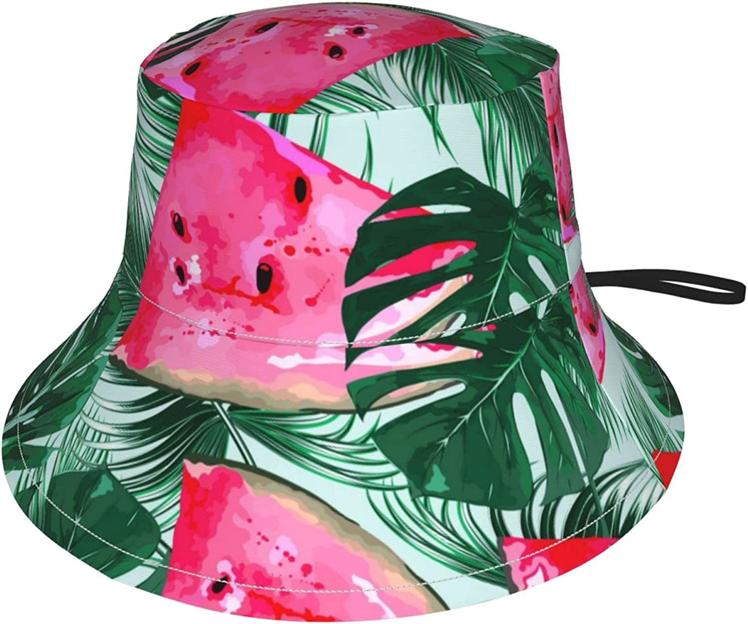 Summer Watermelon Tropical Palm Leaves Be Sun 40% OFF Cheap Sale Hat High quality Fishing Bucket