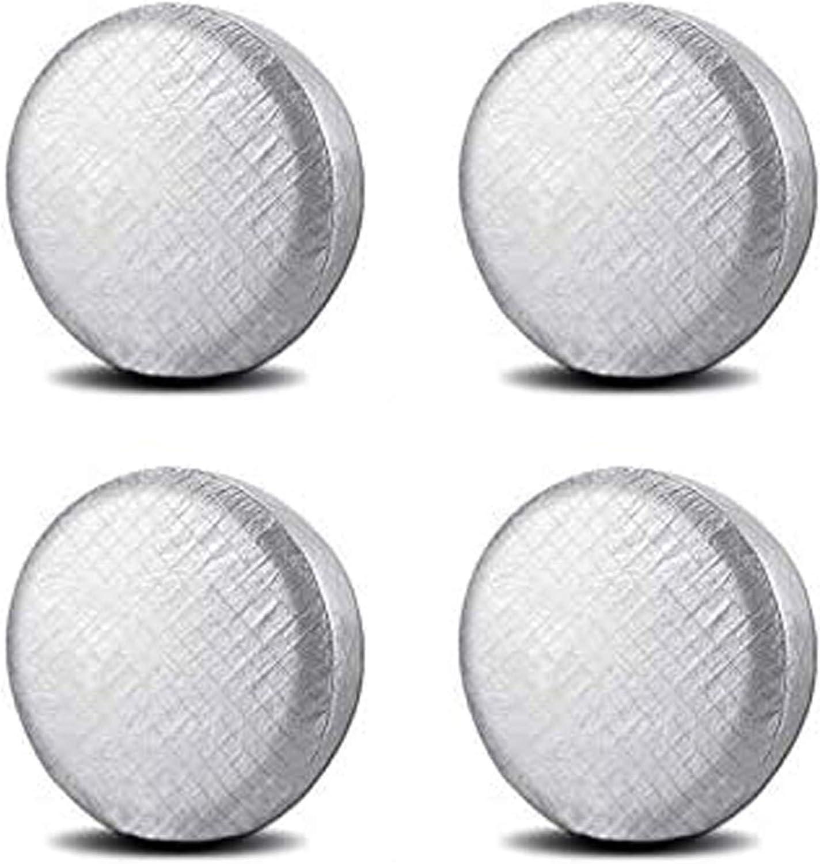 Set of 4 Tire Covers, Waterproof Aluminum Film Tire Sun Protectors,for 26
