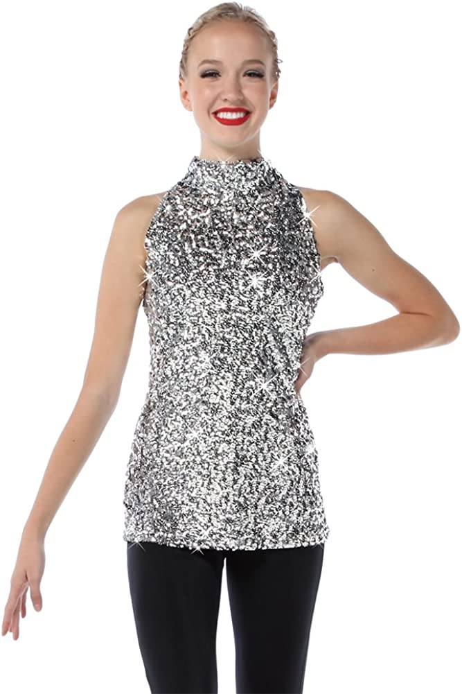 Alexandra Collection Womens Sequin Sparkle Tank Tunic Dress Just for Kix