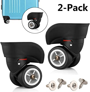 TuhooMall Luggage Wheels Replacement, 360 Degree Swivel Caster Wheel Outdoor Luggage Travel Suitcase Replacement Wheel for Luggage Suitcase Trolley(1 Pair)