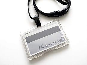 IC社員証用 干渉防止IDカードホルダー(エラー防止セパレーター内蔵) 2枚収納タイプ・ハードケース&ストラップ