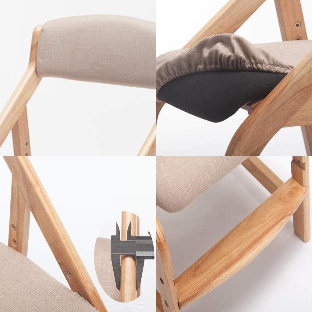 Min Chaise en Bois Massif - Chaise en Bois Massif élégant avec Chaise à Manger rembourrée Chaise de Salle à Manger (Color : Gray) Gray