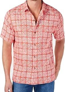 Tonal Geo Silk Camp Shirt
