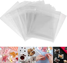200 PCS Cookie Bags, Clear Self Adhesive Plastic Gift Cookie Treat Biscuit Bakery Bags Frosted Party Favor Candy Bags for ...