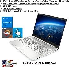 "2020 HP Pavilion 15.6"" Touchscreen Laptop AMD Ryzen 5 Processor 12GB RAM 256GB PCIe SSD HD Webcam HDMI AMD Radeon Vega 8 G..."
