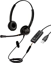 $43 » Sponsored Ad - USB Headset/3.5mm Computer Headset with Mic Noise Cancelling and Volume Controls, PC Headphone Headset with...