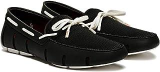 حذاء بأربطة للرجال من ماركة سوميز ، اسود وابيض