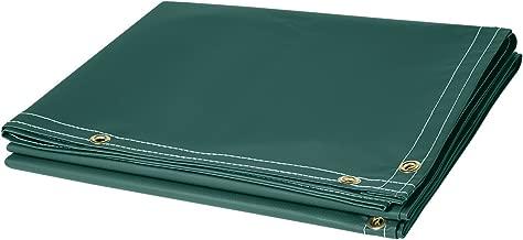 Steiner 326-6X10 13-Ounce Flame Retardant Opaque Vinyl Laminated Polyester Welding Curtain, Green, 6' x 10'