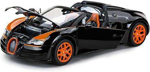 KKD Scale-Modellfahrzeuge ConGrünible Modell Bugatti Entertainment Toy Legierung Simulation Junge Spielzeugauto Statisches Auto Modell 1 18 Weißnachtsgeschenk Mini Fahrzeuge (Farbe   schwarz)