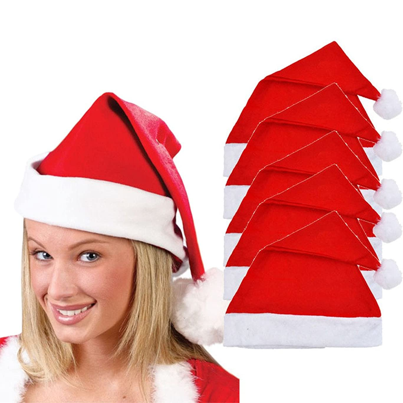 広く硬化する精査Racazing クリスマスハット 5つの レッド Hat ライト ドームキャップ 防寒対策 通気性のある 防風 ニット帽 暖かい 軽量 屋外 スキー 自転車 クリスマス 男女兼用 Christmas Cap
