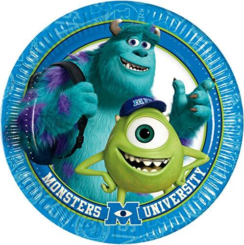 Pappteller mit Disney's Monsters University, von Amscan International