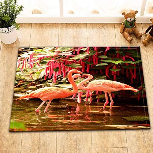 NNAYD1996 Flamingo in Lake Plants verlaat 3D badkamer accessoires, voordeur, achterdeur, keuken, woonkamer, toilet