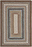 Safavieh Braided Collection BRD313A Hand-woven Reversible Area Rug, 2' 6' x 4', Brown/Multi