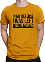 PrintOctopus Graphic Printed T-Shirt for Men & Women  Unsupervised T-Shirt   Funny Quote T-Shirt   Half Sleeve T-Shirt   Round Neck T Shirt   100% Cotton T-Shirt   Short Sleeve T Shirt