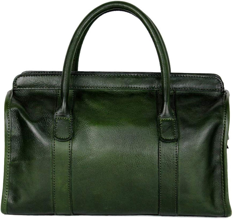 Ladies Handbag Womens Handbags Shoulder Bag Messenger Bag Tote Bag Ladies Shopping Tote Beach Travel Bag Casual Purse,Large Commute Top Hand (color   Green)