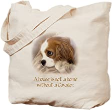 CafePress Cavalier King Charles Spaniel Natural Canvas Tote Bag, Reusable Shopping Bag