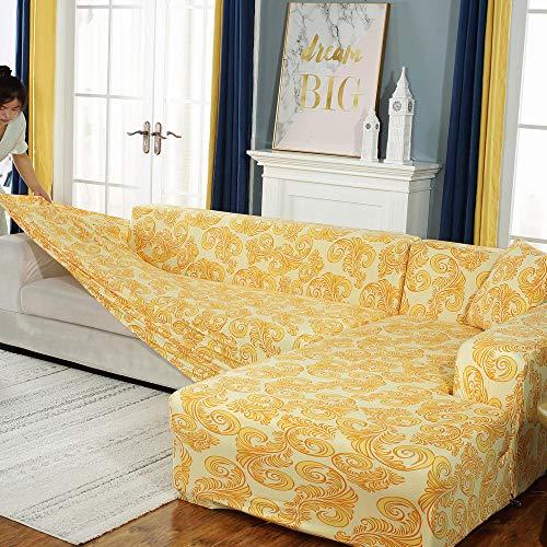 YUTJK Dos Plazas Funda De Sofá,Formo la Funda elástica del sofá,Funda elástica para el sofá,Fundas de sillón Impresas con Todo Incluido,Protector de sofá de Esquina-F_2_Seater/Loveseat