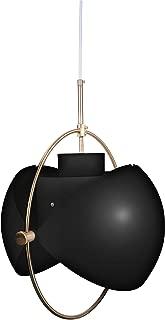 Hyperikon Adjustable Hanging Light, 15.7 Inch Shade, Contemporary Pendant Lighting, Black, E26, Hardwired, Modern, UL