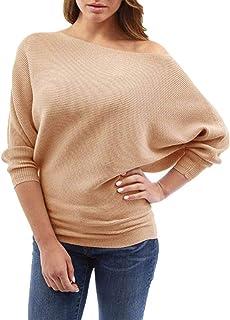 6419b054f775 Donna Maglieria Pullover Eleganti Moda Casuali Accogliente Autunno  Invernali Top in Maglia Puro Colore Senza Spalline