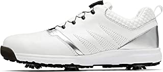 ZMYC Men's Lightweight Golf Shoes, Waterproof Golf Training Shoes with Removable and Non-Slip Shoe Spikes, Wear-Resistant ...