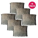 Crucial Air Replacement Humidifier Wick Air Filter Compatible with Holmes Part # HWF64,HWF-64 & Models HM1761,HM1645,HM1730,HM1745,HM1746 (6 Pack)