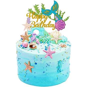 Stupendous Sakolla Glitter Mermaid Birthday Cake Topper Happy Birthday Cake Funny Birthday Cards Online Eattedamsfinfo