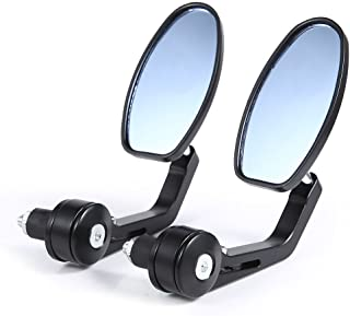 DLLL Black Flexible Motorcycle Rear View Back Mirror Handle Bar End 7/8