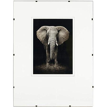 Postergaleria Cadre photo sans cadre |50x70cm |Plexiglas transparent |avec clips |Porte-photo pour affiches photos |Cadre d'affiche |plusieurs tailles |bon pour salon, salle à manger, cuisine