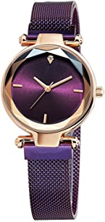 Bravetoshop Women Watches,Ladies Diamond Shining Bling Starry Sky Magnetic Buckle Bracelet Watch