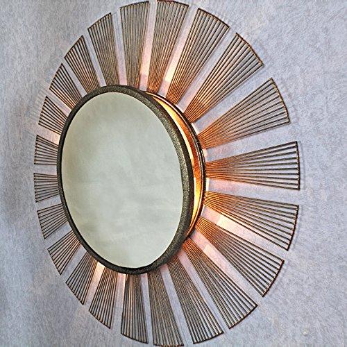 HARMONIA Cuivre Antique Miroir Applique murale à rayons de soleil en G Décor Mir-14