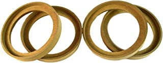 """2 Pair 6.5"""" MDF Speaker Ring Recess with Bezel Mounting Spacer Ring-6.5BZ"""