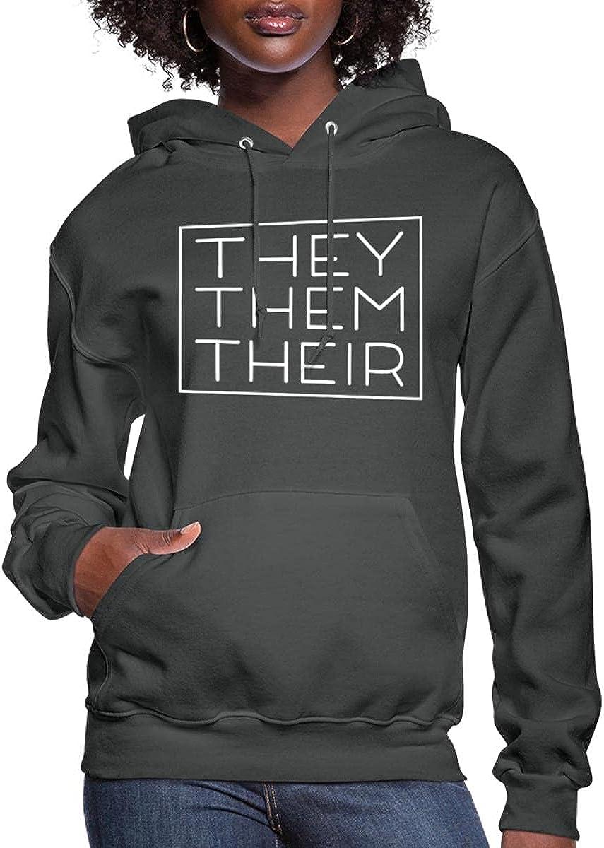 55% OFF Spreadshirt Sale SALE% OFF They Them Their Pronouns Hoodi LGBTQIA Pride Women's