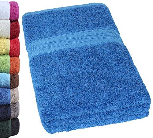Unbekannt NatureMark® SAUNATÜCHER Premium Qualität 80x200cm SAUNATUCH Sauna-Handtuch 100% Baumwolle Farbe: Royal blau