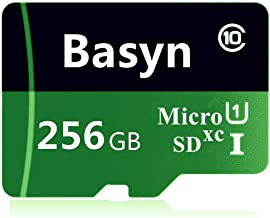Basyn 256GB Micro SD SDXC Memory Card High Speed Class 10 with Micro SD Adapter(LB209-G1) (256 GB)