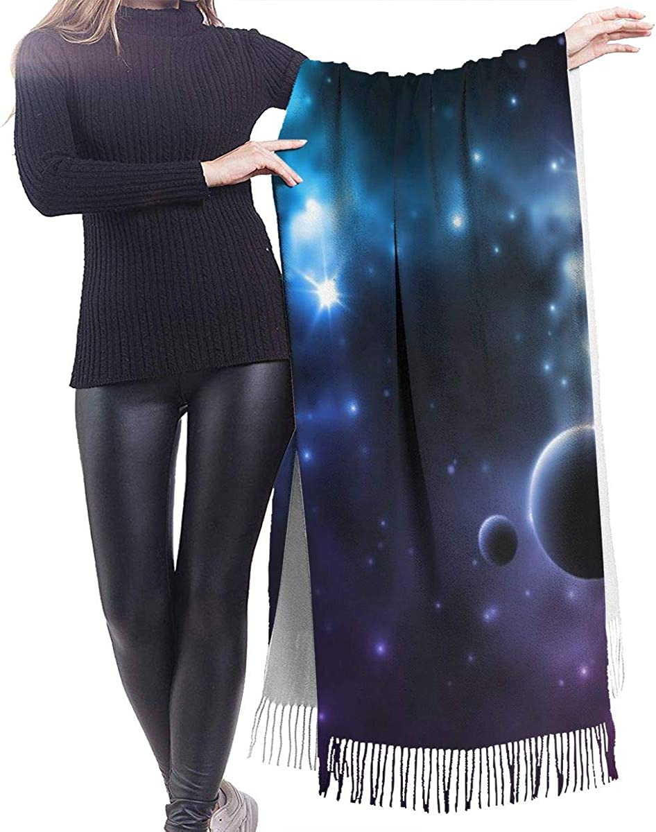 Galaxy Star Cashmere Shawl Wrap Scarf Large Warm Scarf For Women