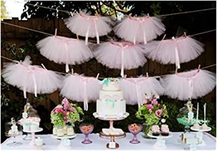 featured product Originals Group Tutu Table Skirt, Baby Pink Tulle Tutu Table Skirt Decor,  Birthday Event Wedding Party Decoration (Mini Pink Tutu Garland)