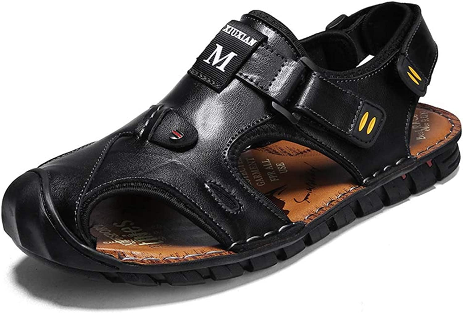 Men's Sandals Leather Non-Slip Roman shoes Baotou Breathable Beach shoes Summer