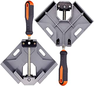 コーナークランプ 写真フレーム 90度 直角 木工用 木材 圧着 接着 溶接 DIY 工具 ツール 固定板幅 調整可能 二個セット