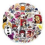YEESACG - Food Wars!Shokugeki no Soma Stickers| 50 Pack | Vinyl Waterproof Japanese Anime Stickers for Hydro Flask,Laptop,Bumper,Water Bottles,Skateboard,Phone,Luggage,Car for Adults Teens Kids