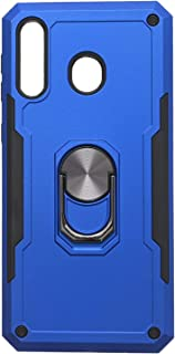 Hard Back Cover With Metal Holder For Samsung Galaxy M30 & Samsung Galaxy A40s - Blue & Black