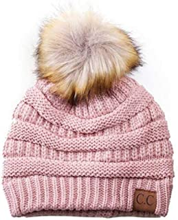 Motobear Exclusives Women's Beanie for Women Soft Stretch Cable Knit Pom Pom Beanie Hat Cap