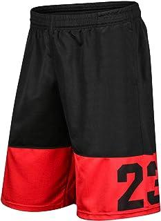 Chicago Bulls Short de basket-ball pour homme jeunesse Active Athletic Entra/înement Gym Course Short avec poches s/échage rapide en maille respirante S-2XL