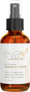 Eva Naturals Vitamin C Plus Toner (4oz) - Anti-Aging Facial Spray with Retinol and Hyaluronic Acid - Blemish Reduction, Pore Tightening and Collagen Production - Safe for Acne-Prone Skin