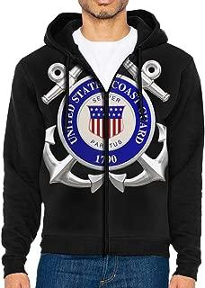 United States Coast Guard 1790 Men's Full-Zip Up Hoodie Jacket Pullover Sweatshirt