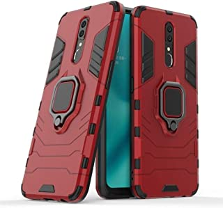 CompuMisr Iron Man cover Case For Oppo F11 With Metal Ring kickstand - Red