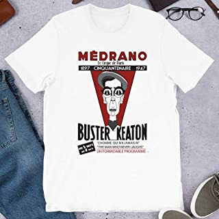Buster Keaton T-shirt cameraman silent movie film comédie STAR HOLLYWOOD CHAPLIN