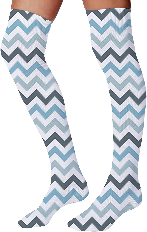 Men's and Women's Fun Socks,Ocean Inhabitants Theme Exotic Fish Seahorse Seashells Starfish Pattern