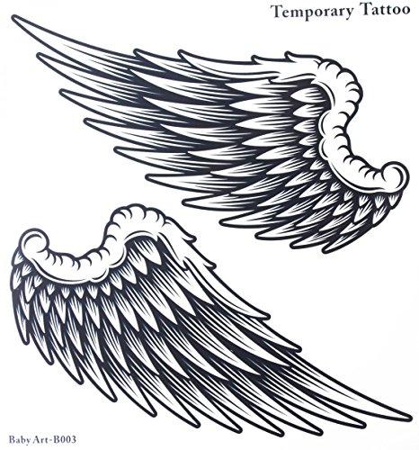 GGSELL GGSELL tamaño del tatuaje 21 cm x 22 cm, no tóxico y resistente al agua, venta en caliente a la moda, gran alas de ángel, tatuaje temporal para mujeres y hombres