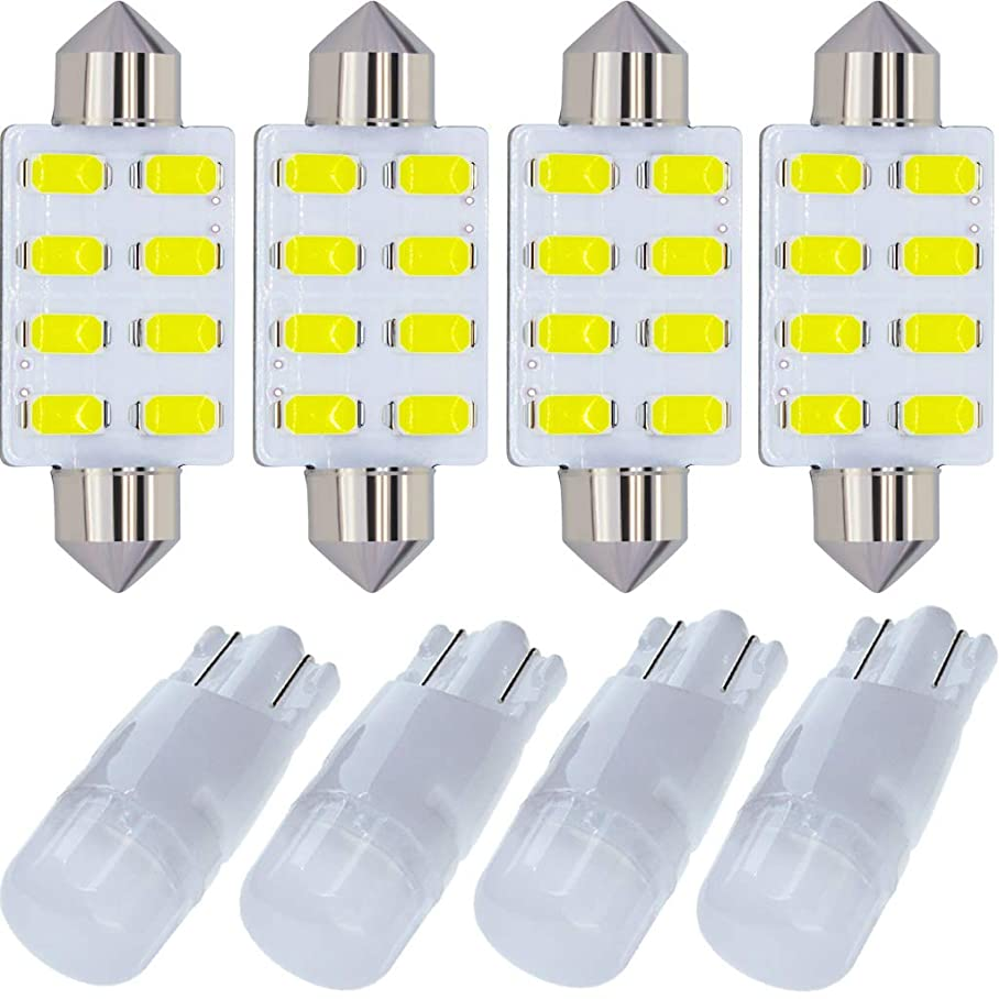 LED Kit Compatible for 2000-2014 GMC Sierra 1500 2500 3500 HD 2007-2014 GMC Yukon XL 1500 2500 3500 Denali XL Hybrid Bulb Interior Lights Package Replacement White n600171452